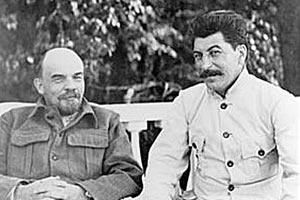 Ленин и Сталин в Горках. 1922 год.