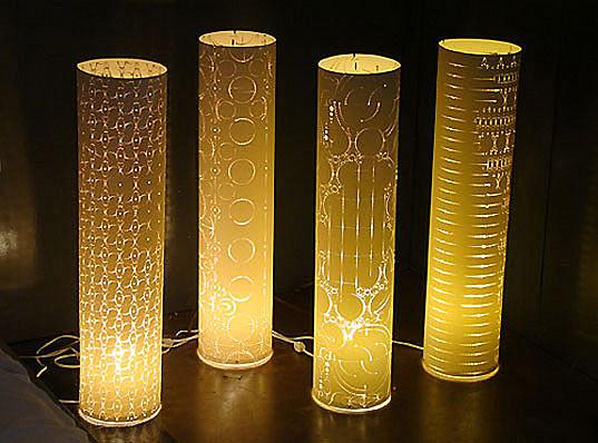 светильники из laser-cut paper