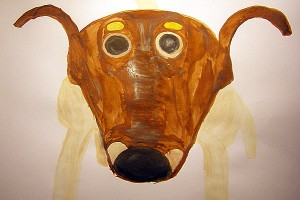 Собака Марс. Виссарион Шпанский, 2009, бумага, акварель