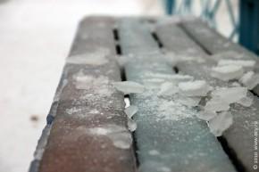 Ледяная скамеечка.