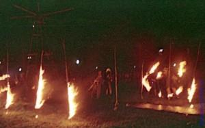 Огненное шоу театра Dog Troop. Москва. 1989 год.