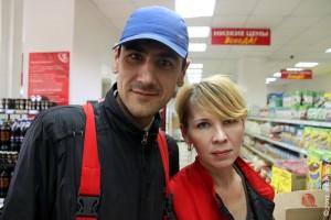 Работники магазина Пятёрочка.