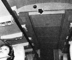 Первые кинотеатры на борту авиалайнеров компании Trans World Airlines. 1961 год.