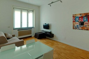 Интерьер квартиры, которую можно взять в аренду в Милане.