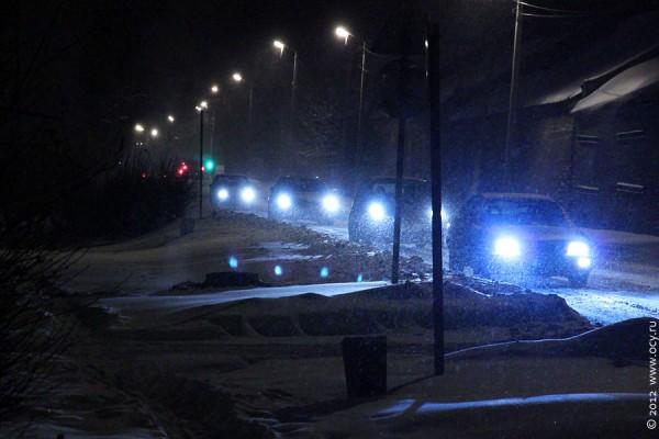 Снежная дорога. Пробка 29 ноября 2012 года.
