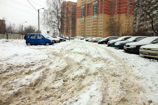 Дорожка, которую не чистят от снега.