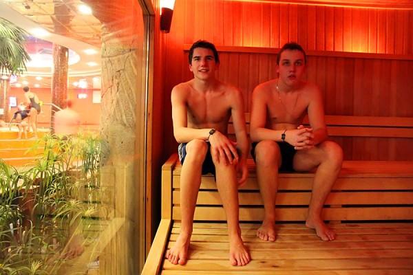 В русской бане аквапарка Ква-ква.