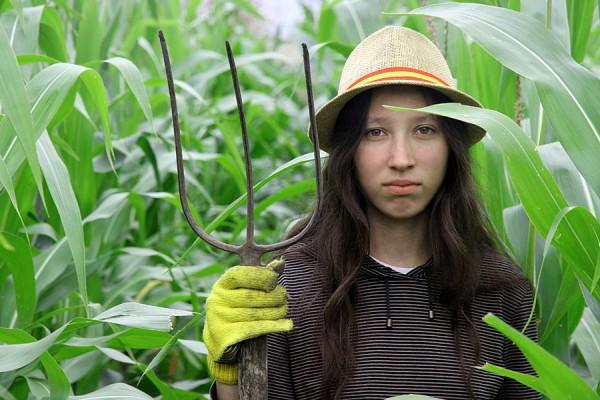 Ребёнок из кукурузы.