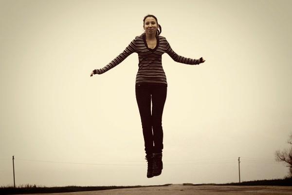 Прыжок.