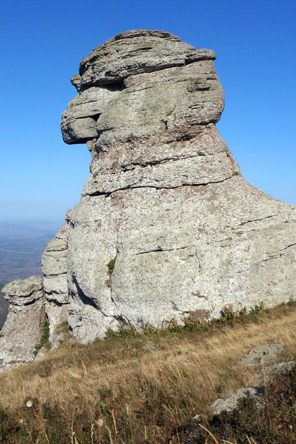 Андрюха Острик на вершине горы Демерджи.