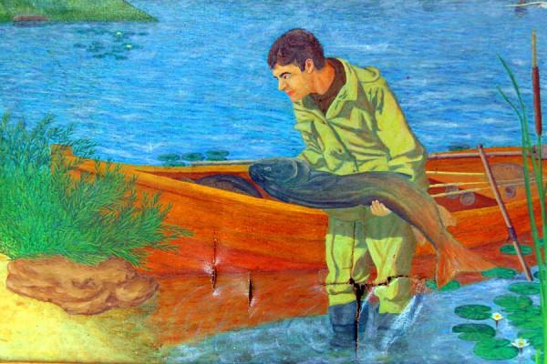 Картина «Рыбацкое счастье». Фрагмент.