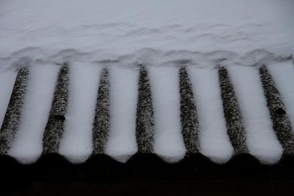 Снежная крыша.