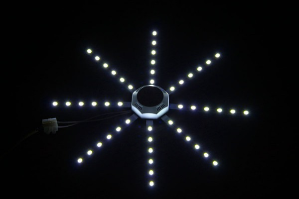 Лампа Octagonal LED Ceiling Lamp Fixture, рабочий вид.