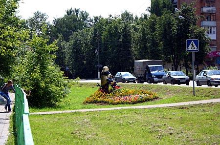 Веселые панды на Букинском ш., г. Лобня. 2008 г. Вообще-то они не очень большие :)