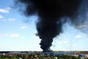 Пожар на складе резиновых изделий, 24.07.2008, г. Лобня МО