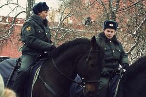 Алесандровский сад — 2008. Конная милиция.