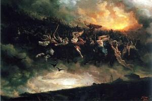 Wild Hunt (Дикая охота), Peter Nicolai Arbo (Норвегия, 1831-1892)