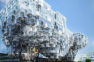 Проект пиксельного небоскреба для Экспо-2010 в Сингапуре