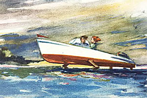 По воде на крыльях — журнал Техника молодежи, март 1959 года