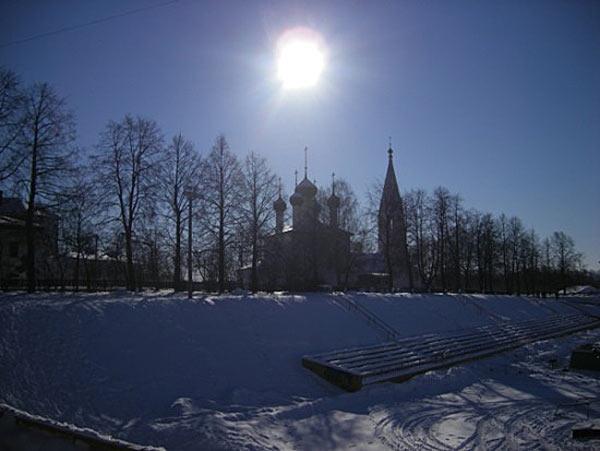 Зимнее солнце в Ярославле
