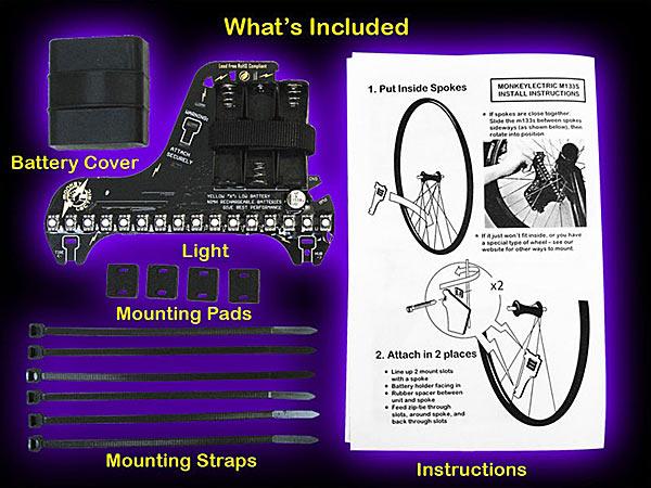 Инструкция крепления устройства к колесу — www.monkeylectric.com