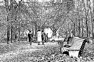 Осенний этюд после графического редактирования.