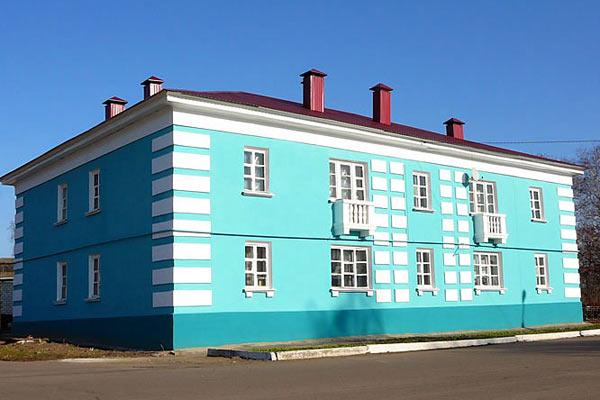 Один из отремонтированных жилых домов. малоархангельск. 2008 год.