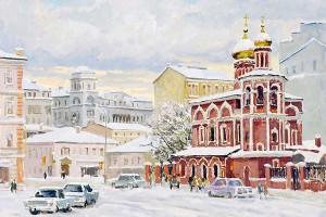 Московский пейзаж. Валерий Изумрудов. 2004 год
