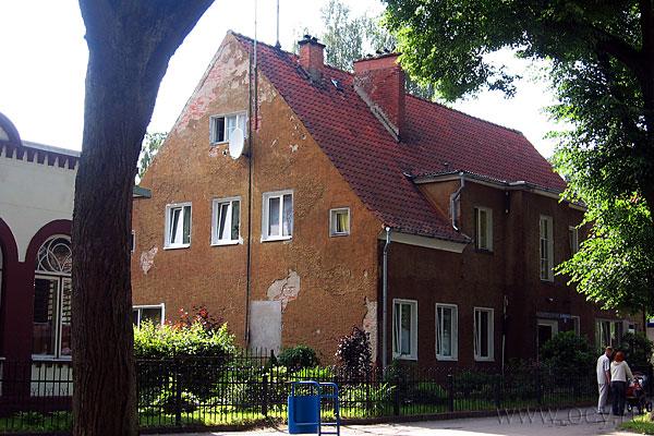 Немецкая архитектура в Светлогорске на каждом шагу.