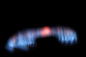 Горит газ в водонагревателе, будет, значит, горячая вода