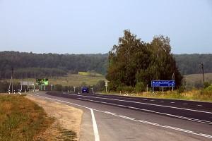 Симферопольское шоссе за Тулой, поворот на Грумант. Дым кончился. 01.08.2010 года.