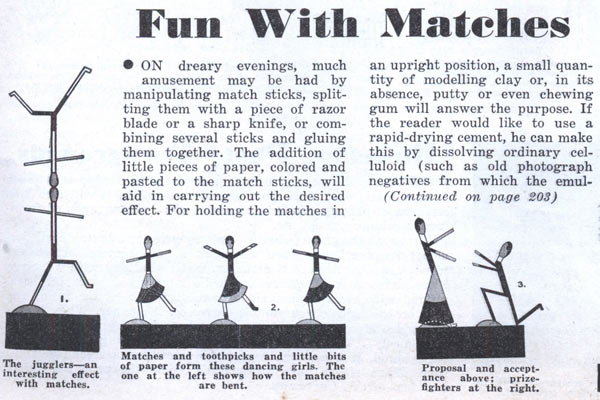 Первые прототипы современных Барби из спичек