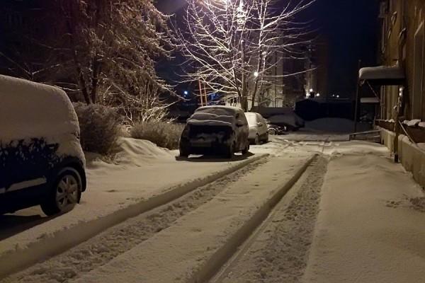 Снег. Февраль.